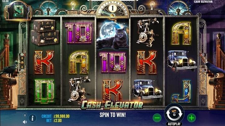 cash elevator slot screen