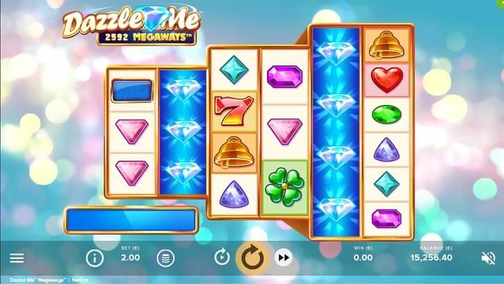 dazzle me megaways slot screen
