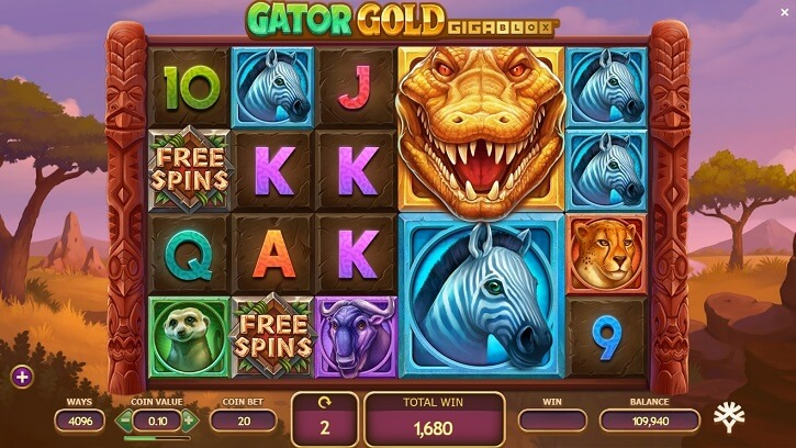 gator gold gigablox slot screen
