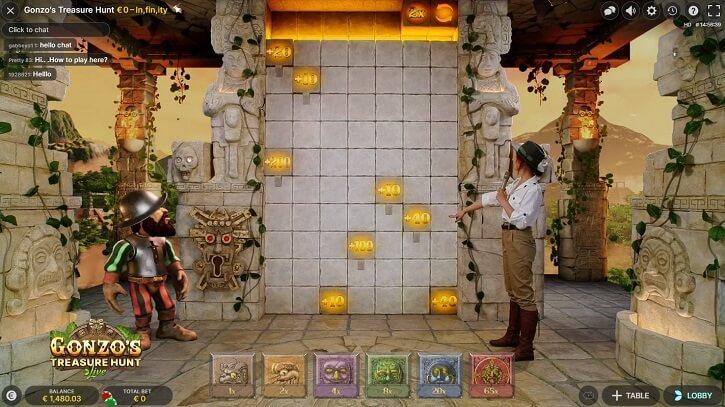 gonzos treasure hunt live game