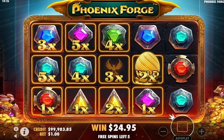 phoenix forge slot bonus game
