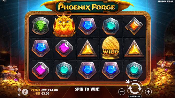 phoenix forge slot screen