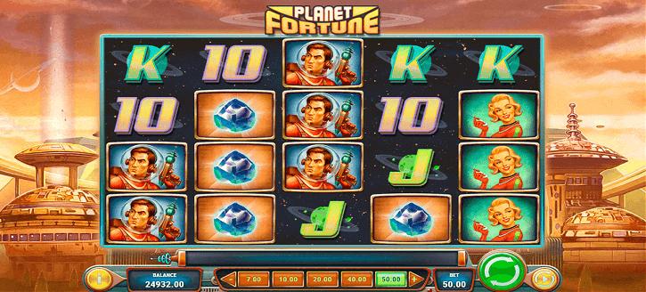 planet fortune slot screen