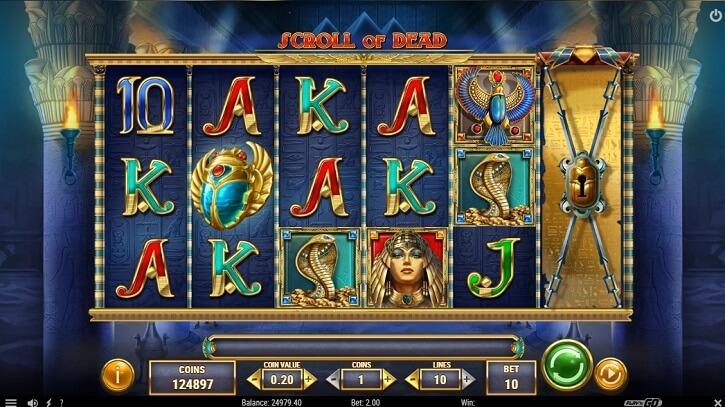 scroll of dead slot screen