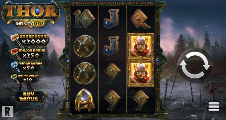 thor infinity reels slot screen
