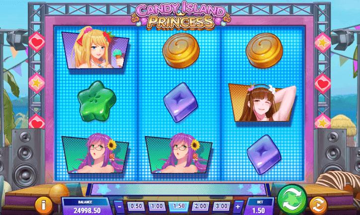 candy island princess slot screen