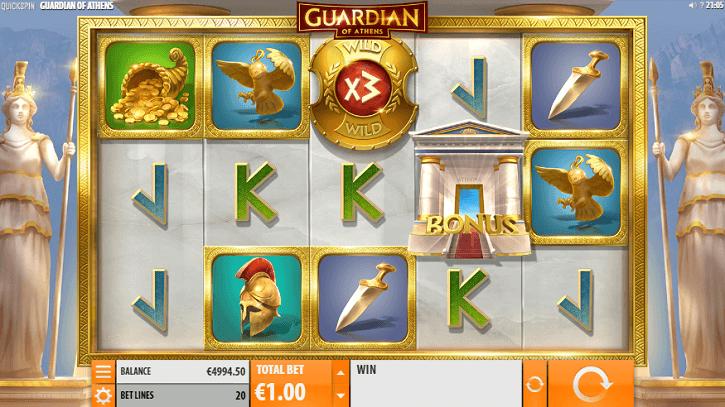 guardian of athens slot screen