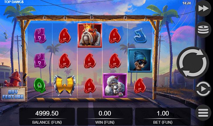 top dawgs slot screen