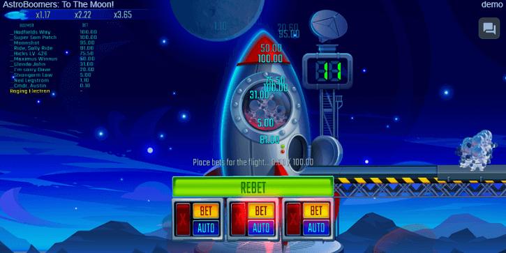 astroboomers game screen