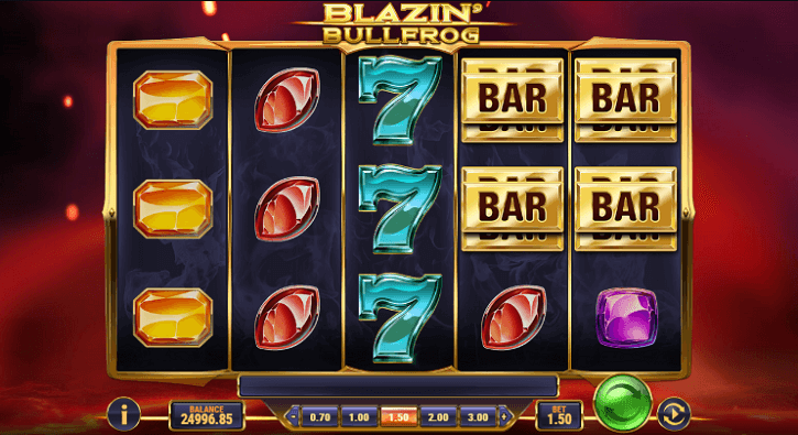 blazin bullfrog slot screen