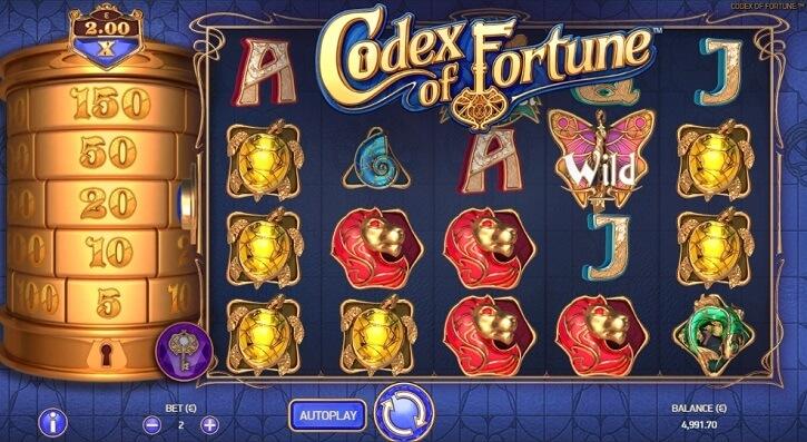 codex of fortune slot screen