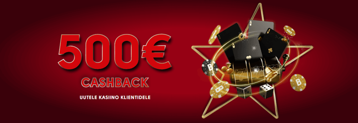 olybet kasiino 500 eur cashback kampaania