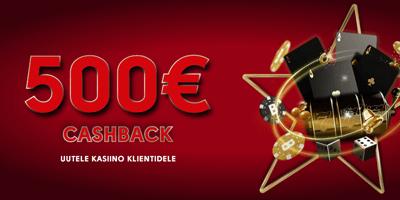 olybet kasiino 500 eur cashback