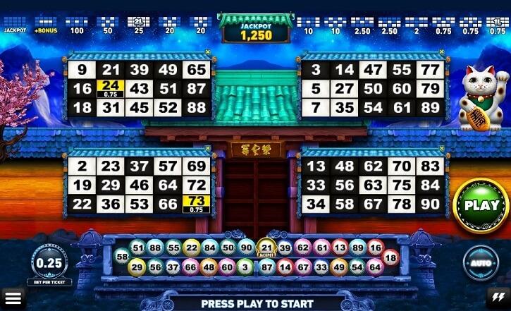 pachinko game screen
