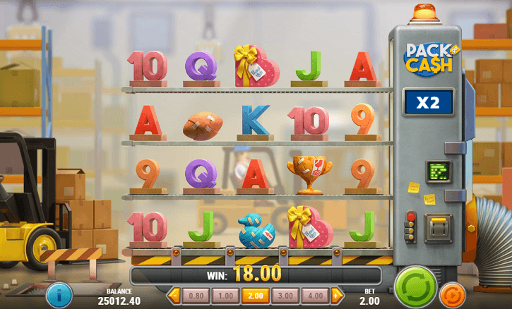 pack and cash slot screen