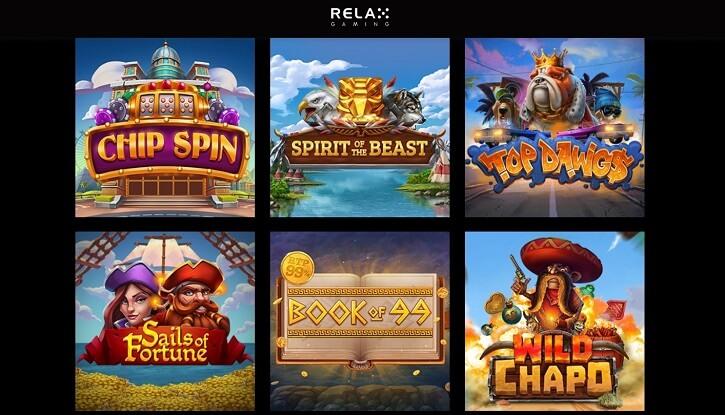 relax gaming slotid