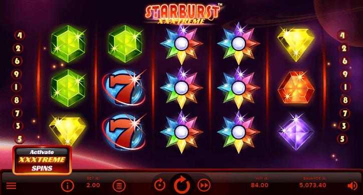 starburst xxxtreme slot screen