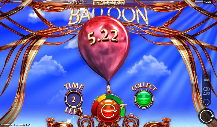 the incredible balloon slot screen