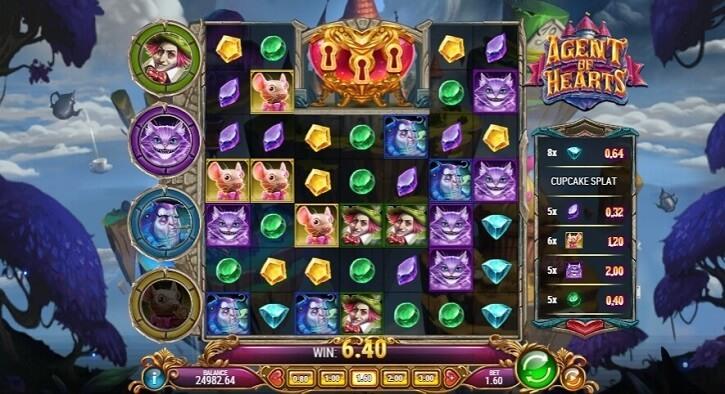 agent of hearts slot screen