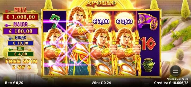 amazing link apollo slot screen