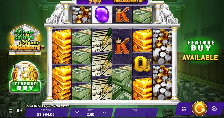 break da bank again megaways slot screen