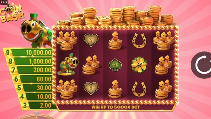 coin bash slot screen
