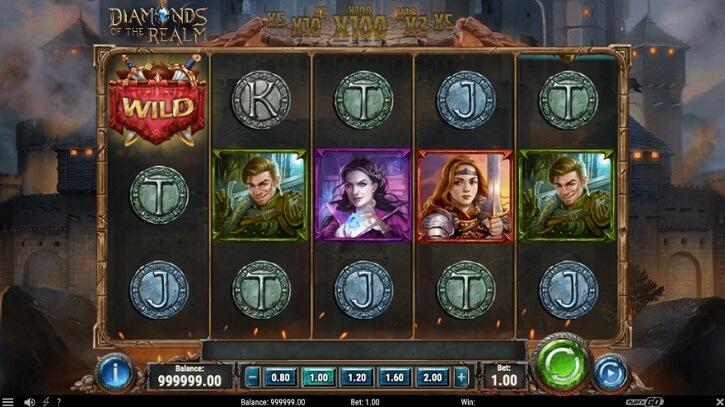 diamonds of the realm slot screen