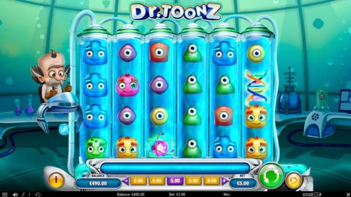 dr toonz slot screen