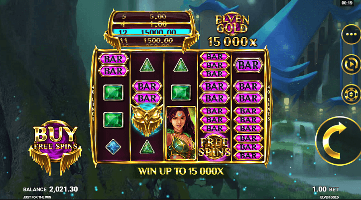elven gold slot screen