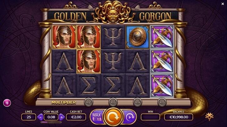 golden gorgon slot screen