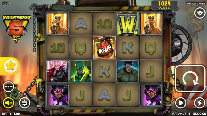 infectious 5 xways slot screen