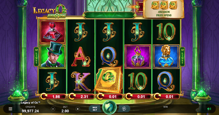 legacy of oz hyperspins slot screen