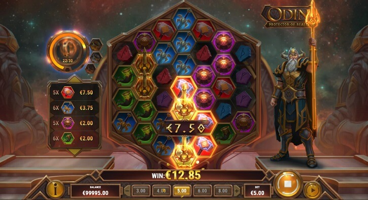 odin protector of realms slot screen