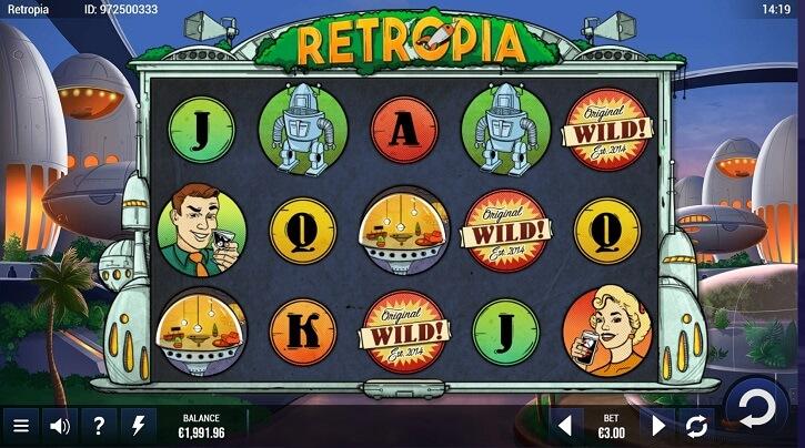 retropia slot screen