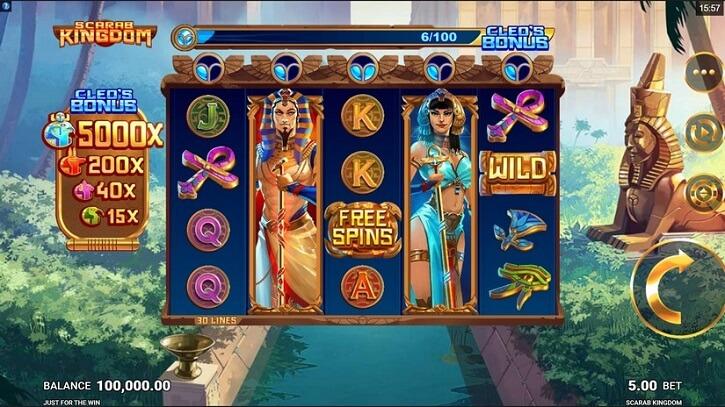 scarab kingdom slot screen