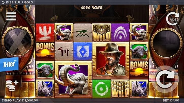 zulu gold slot screen