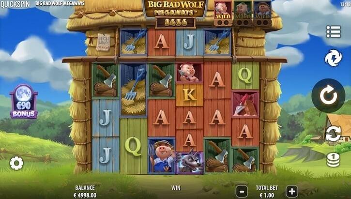big bad wolf megaways slot screen