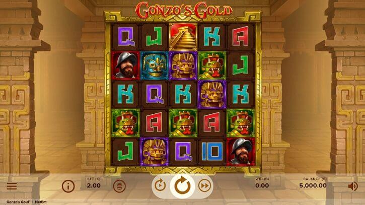 gonzos gold slot screen