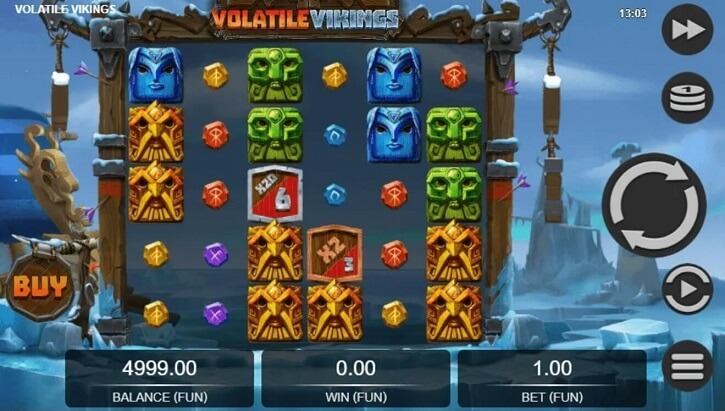 volatile vikings slot screen