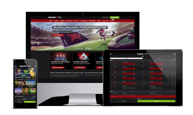 betsafe kasiino website screen