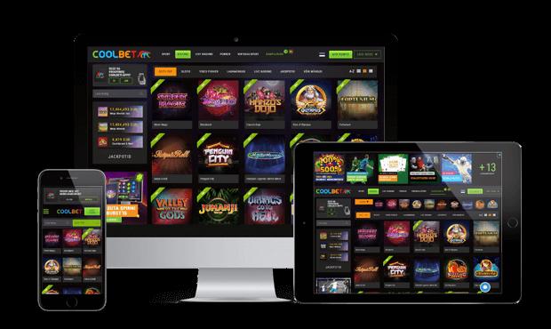 coolbet kasiino website screen