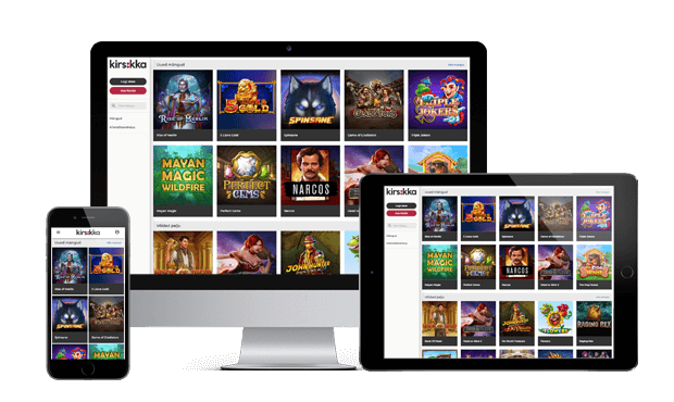 kirsikka kasiino website screen