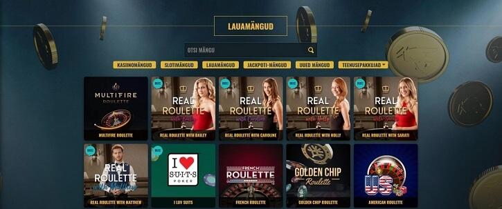 noaccountbet лайв казино игры
